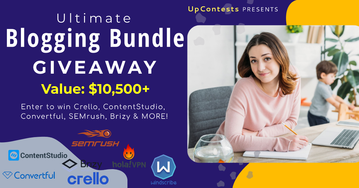 Ultimate blogging bundle giveaway featured image
